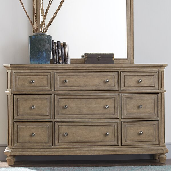 Mckelvey 9 Drawer Double Dresser with Mirror by Darby Home Co