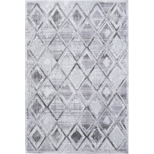 Sparta Gray/Cream Area Rug by Bungalow Rose