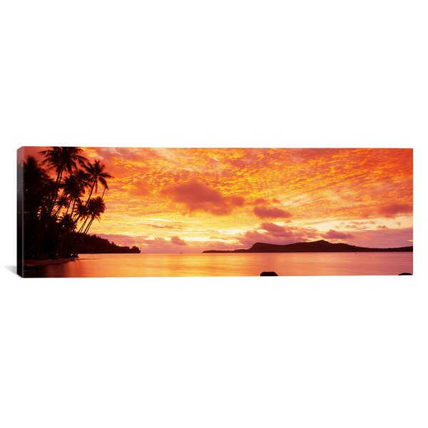 Panoramic Sunset, Huahine Island, Tahiti Photographic Print on Canvas by iCanvas