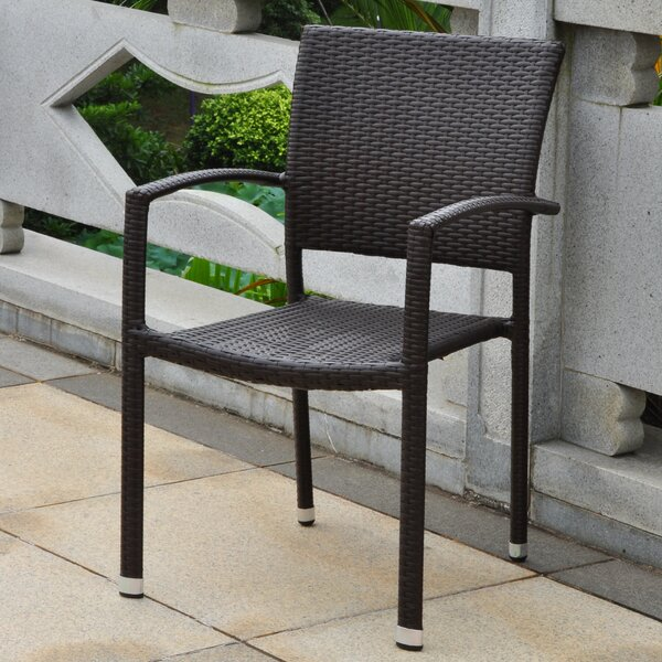 Katzer Stacking Patio Dining Chair by Brayden Studio