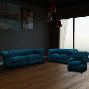 Fabiola 3 Piece Living Room Set by House of Hampton®
