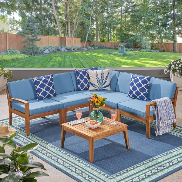 Jacob Outdoor 6 Piece Sectional Seating Group by Sol 72 Outdoor