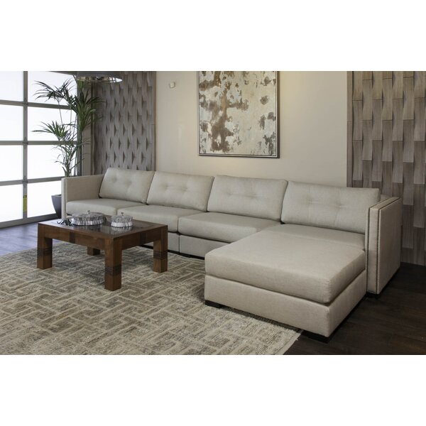 Deals Price Timpson Right Hand Facing Plush Deep Modular Sectional With Ottoman