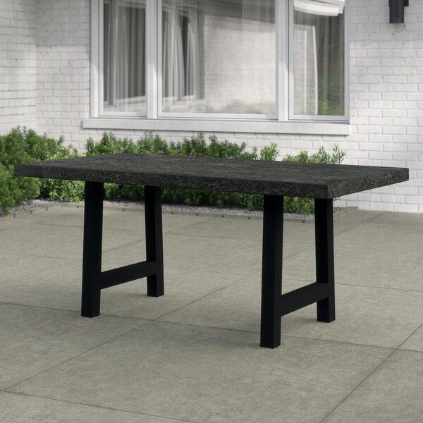 Dorcia Stone/Concrete Dining Table by 17 Stories