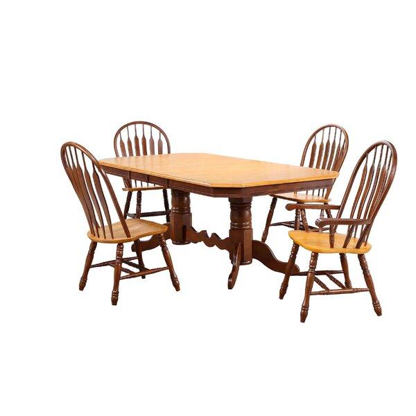 Banksville 5 Piece Dining Set by Loon Peak