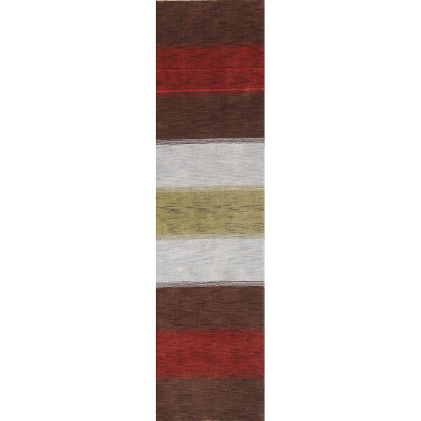 Seidman Oriental Hand-Knotted Wool Red/Brown Area Rug