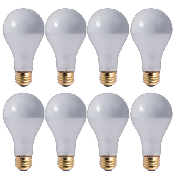 100W E26 Dimmable Incandescent Light Bulb Frosted Silver Bowl (Set of 8) by Bulbrite Industries