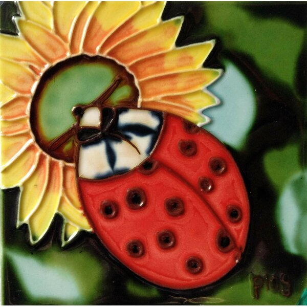 Ladybug Tile Wall Decor by Continental Art Center