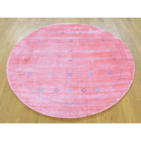 One-of-a-Kind Becker Handwoven Pink Wool/Silk Area Rug by Isabelline