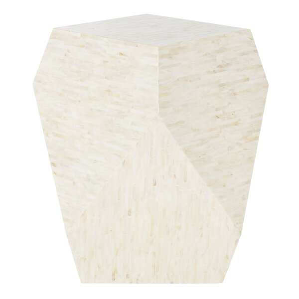 Mahn Mosaic Geometric End Table by Ivy Bronx