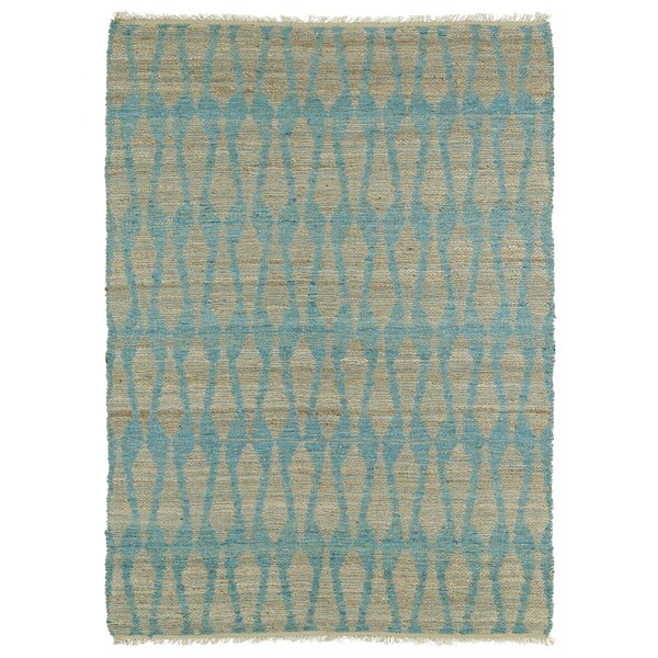 Millbourne Light Beige & Teal Area Rug by Wrought Studio