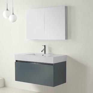 Online Reviews Frausto 39 Single Bathroom Vanity Set with Mirror ByBrayden Studio