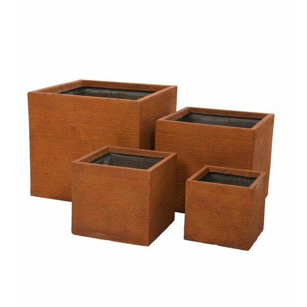 Square 4-Piece Pot Planter Set by Plow & Hearth