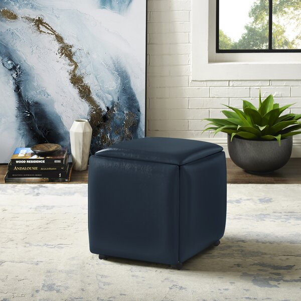 Home & Outdoor Cauldwell Convertible Cube Ottoman