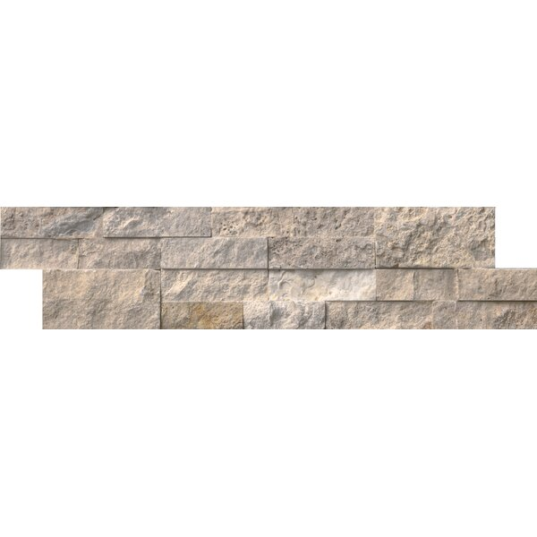 Philadelphia 6 x 24 Travertine Splitface Tile in Gray by MSI