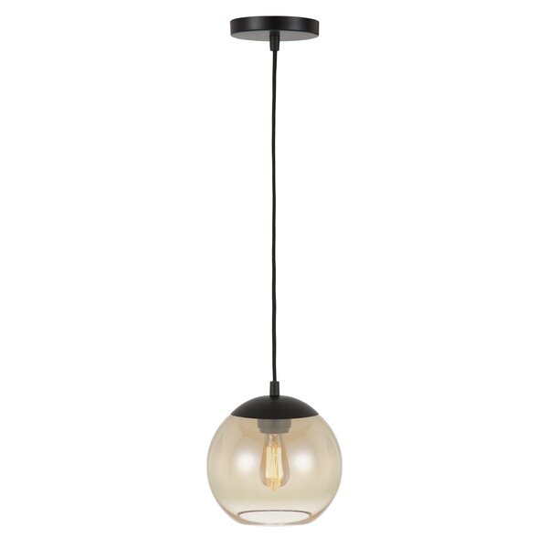 Gunderson 1-Light Globe Pendant by Williston Forge
