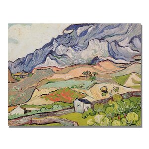 The Alpilles by Vincent van Gogh Painting Print on Canvas by Trademark Fine Art