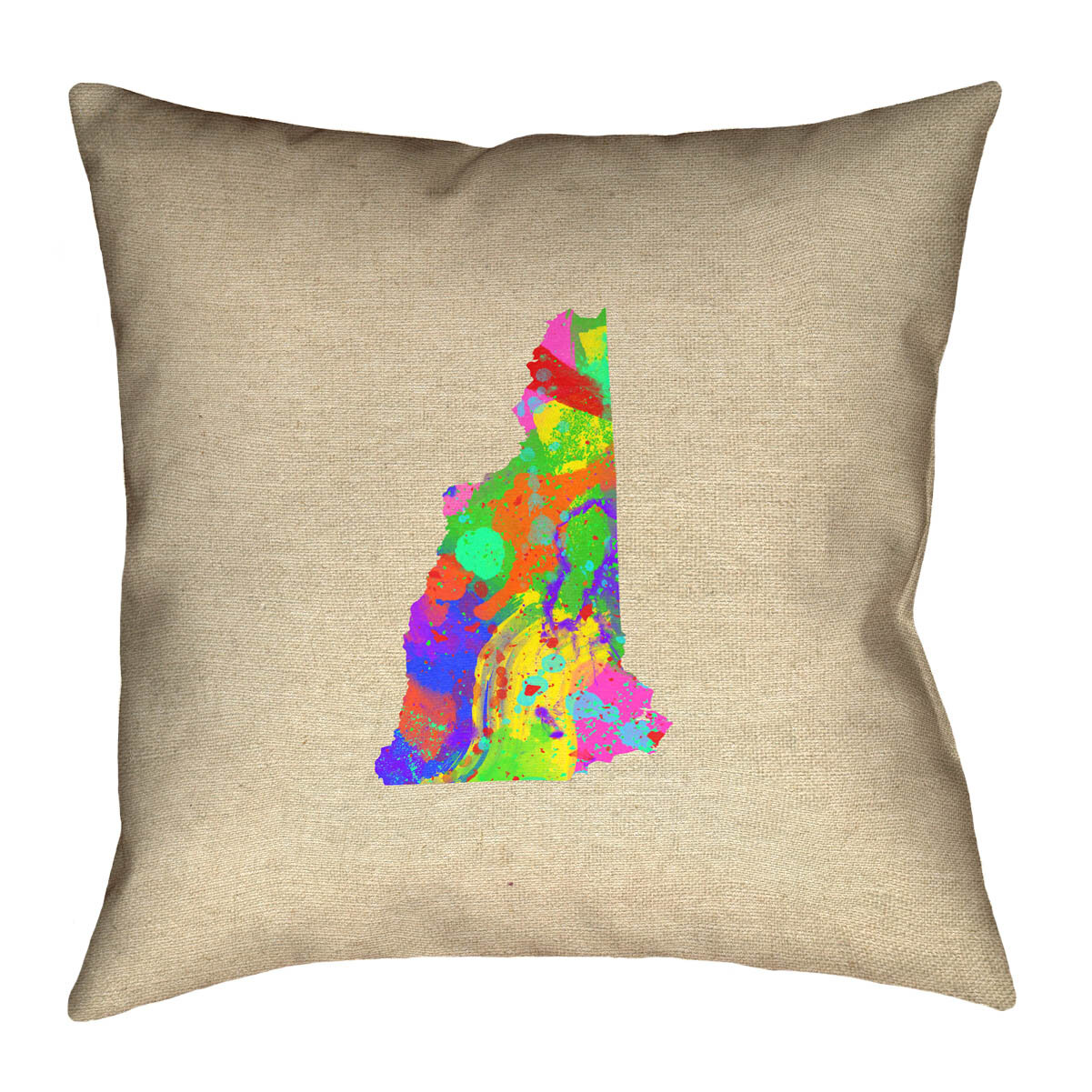 Ivy Bronx Giorgi State Watercolor In Cotton Twill Double Sided Print Pillow Cover Wayfair