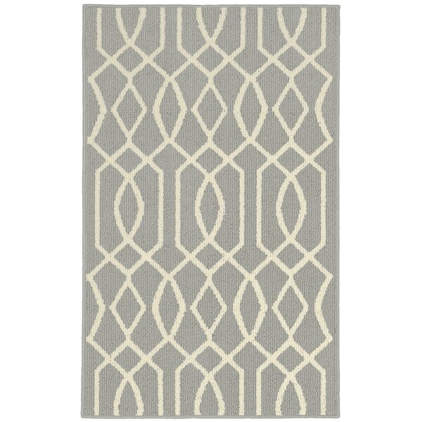 Fretwork Silver/Ivory Area Rug by Garland Rug