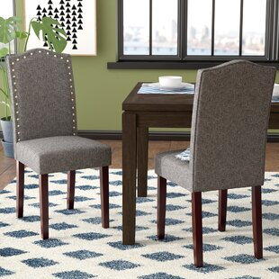 Read Reviews Lepore Upholstered Nailhead Parsons Chair (Set of 2) ByIvy Bronx