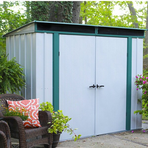 EuroLite 8 ft. 4 in. W x 4 ft. 3 in. D Metal Tool Shed by Arrow