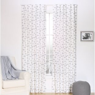 Gray Cloud Graphic Print And Text Blackout Rod Pocket Curtain Panels Set Of 2