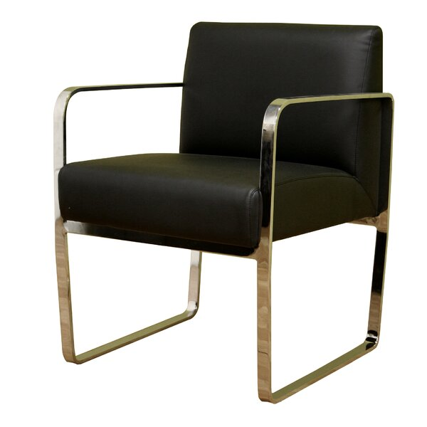 Theta Leather Guest Chair by Latitude Run
