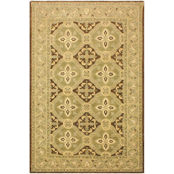 One-of-a-Kind Bodrum Hand-Knotted Wool Brown/Green Area Rug by Canora Grey