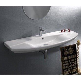 Focus Ceramic Rectangular Drop-In Bathroom Sink with Overflow by CeraStyle by Nameeks