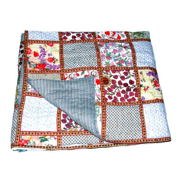 Riedel Cotton Block Print Patchwork Single Reversible Quilt