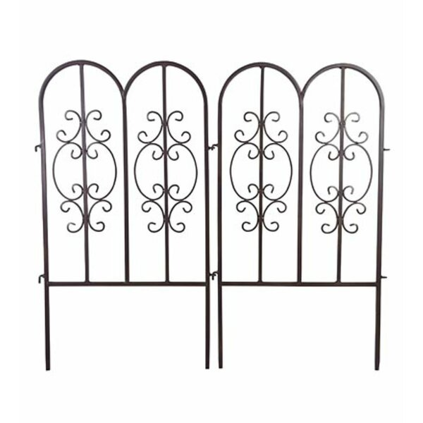 34 in. x 18 in. Montebello Decorative Iron Garden Short Fencing (Set of 2) by Plow & Hearth