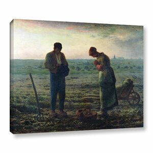 The Angelus Gallery by Jean Francois Millet Graphic Art on Wrapped Canvas by Alcott Hill
