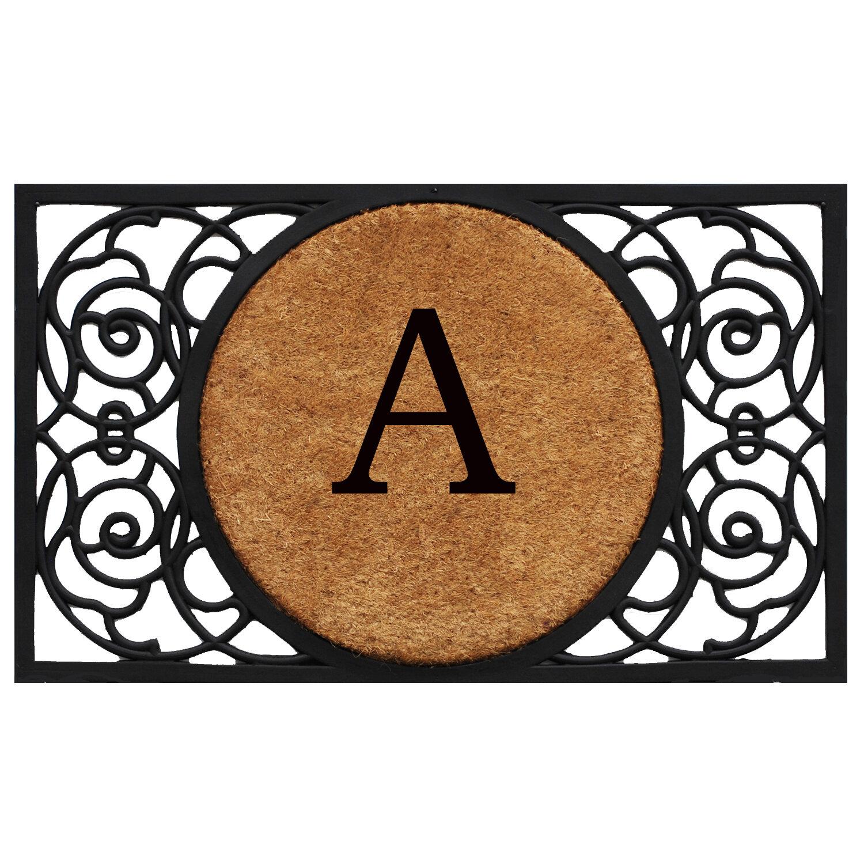 Fleur De Lis Living Francesca Circle Monogram Doormat U0026 Reviews | Wayfair