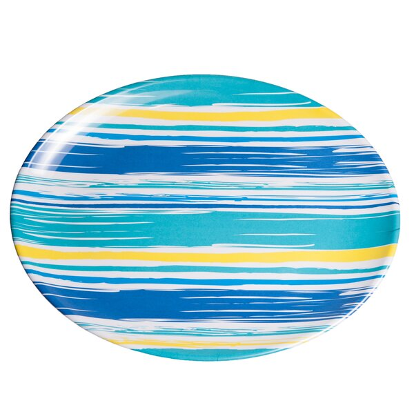Whitson  By The Sea Oval Melamine Platter by Rosecliff Heights