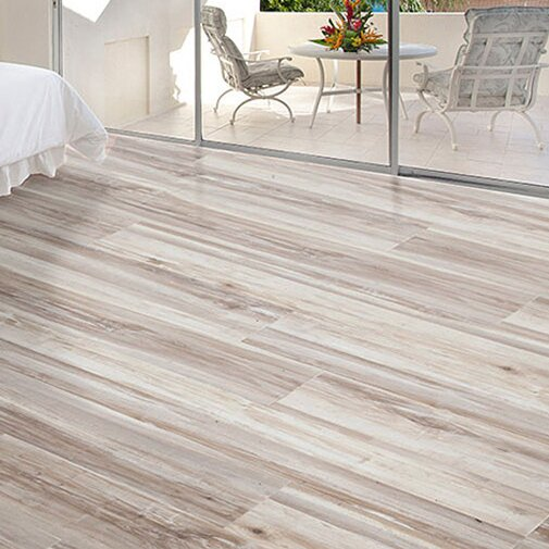 Exotic 5 5.25 x 64 x 12mm Acacia Laminate Flooring in Smokey Gray by All American Hardwood