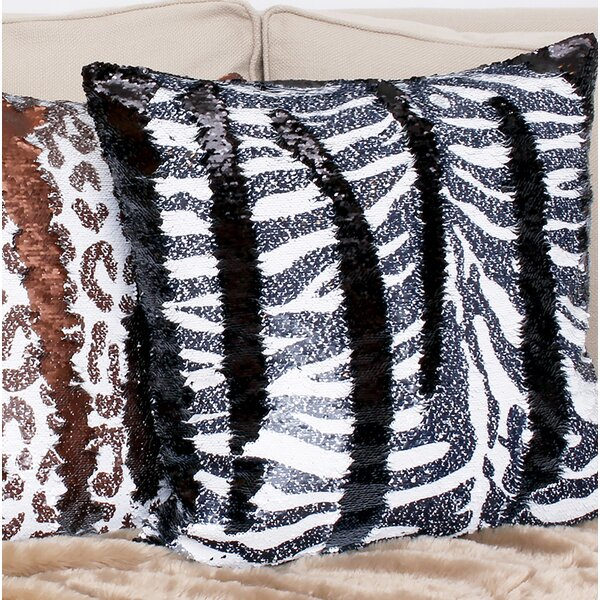 Marcum Zebra Throw Pillow by Bloomsbury Market