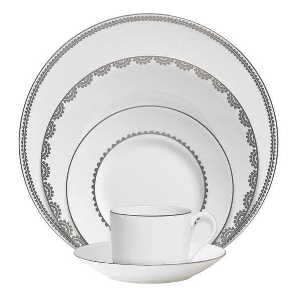 Flirt Bone China 5 Piece Place Setting, Service for 1 by Vera Wang