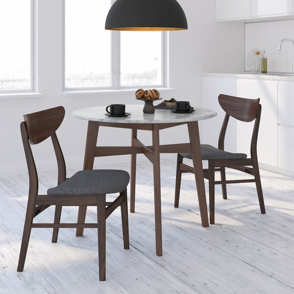 Babin 3 Piece Solid Wood Dining Set by Corrigan Studio Corrigan Studio