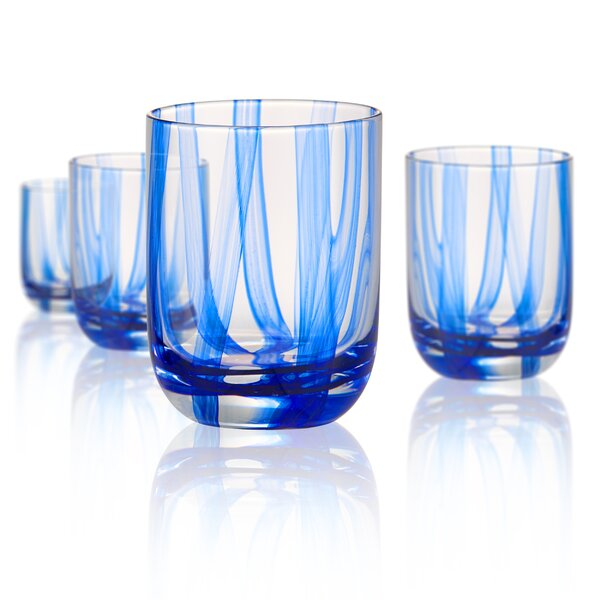 Colyn 13 oz. Glass Cocktail Glasses (Set of 4) by Highland Dunes