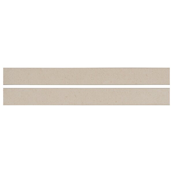 Livingstyle Bull Nose 2x 24 Porcelain Field Tile in Cream by MSI