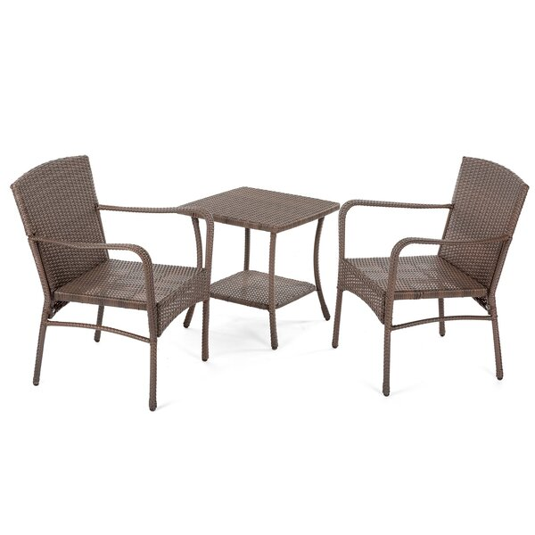 Rebbeca 3 Piece Rattan Conversation Set with Cushions by Ivy Bronx