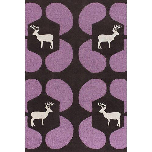 Valencia Purple Deer Novelty Rug by East Urban Home