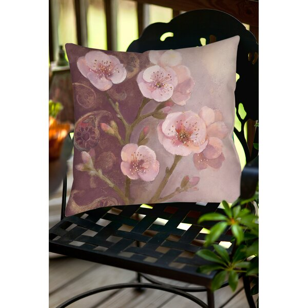 Gypsy Blossom 1 Indoor/Outdoor Throw Pillow by Manual Woodworkers & Weavers