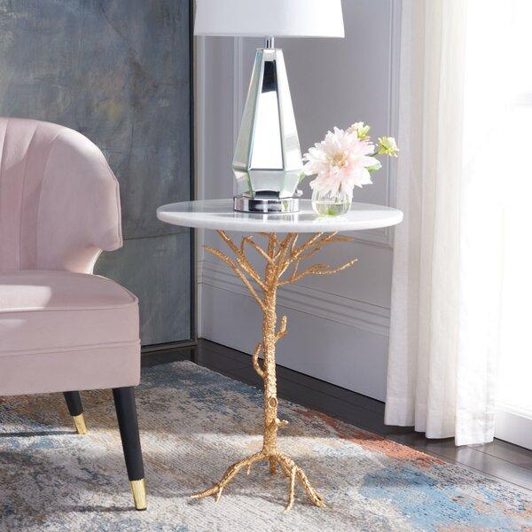 Tamara Pedestal End Table By House Of Hampton
