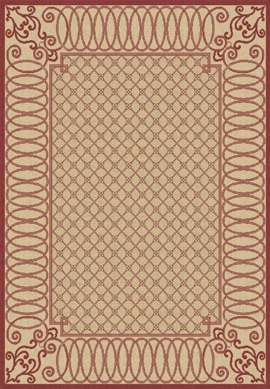 Paula Beige/Red Indoor/Outdoor Area Rug by Winston Porter
