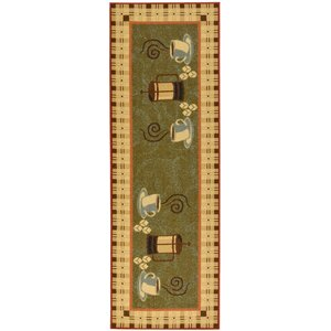 Siesta Green Area Rug