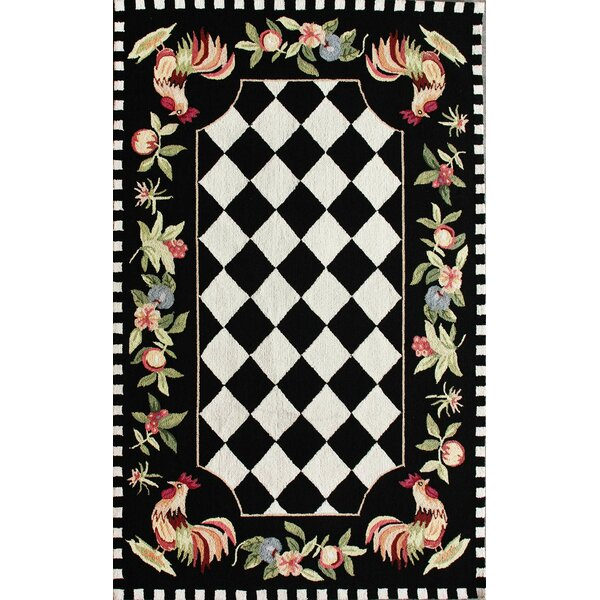 Bacourt Black Novelty Area Rug by August Grove