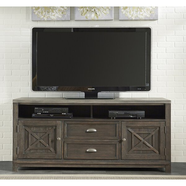 Upton Cheyney Solid Wood Entertainment Center For TVs Up To 75
