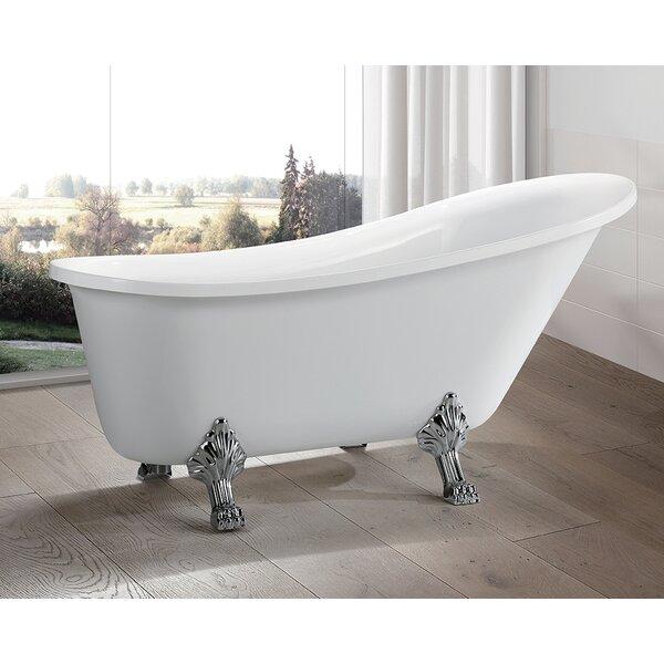 69 x 30 Freestanding Soaking Bathtub by Vanity Art