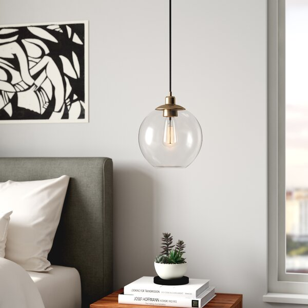 Gehry 1-Light Glass Pendant by Langley Street